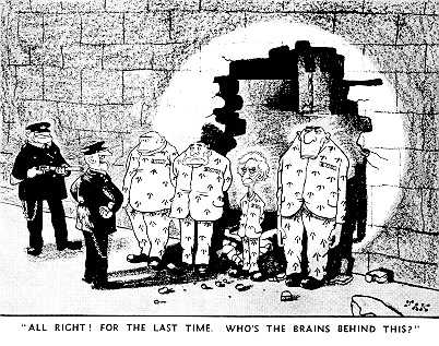 Comic strip about Bertrand Russell in jail