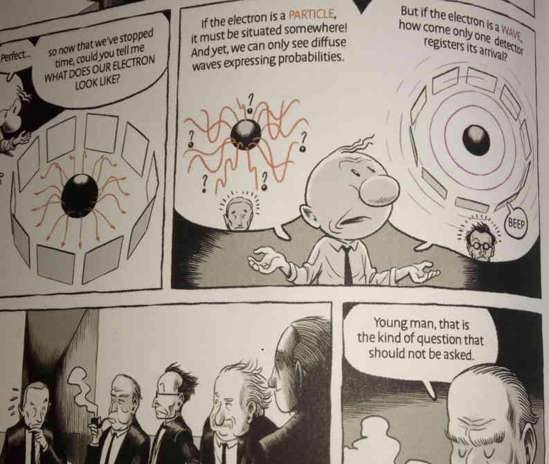 """Muestra del comic """"Misterios del Universo Cuántico"""" Damour & Burniat"""