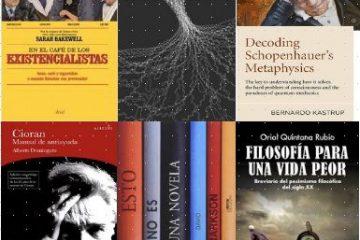 Libros sobre filosofía: existencialistas, Schopenhauer, Cioran y otros